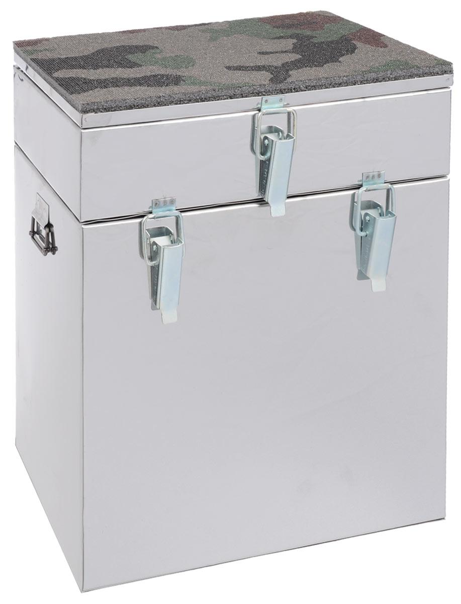 Ящик рыболова Рост, двухъярусный, 30 см х 19 см х 36 см18901Ящик Рост представляет собой усовершенствованный вариант классического рыбацкого зимнего ящика. Эта деталь снаряжения может служить для транспортировки снастей и термоса с обедом, используется как сидение, а при удаче в него можно загрузить улов. Корпус ящика изготовлен из нержавеющей стали толщиной 0,5 мм. Служащая сиденьем верхняя часть крышки оклеена плотным теплоизолятором - пенополиэтиленом с рифленой поверхностью. Верхний ярус ящика - это отдельная емкость, разделенная внутренними перегородками на 3 отсека. Ниже располагается основной внутренний объем, который откроется, если отстегнуть пару защелок и приподнять верхний ярус вместе с крышкой. Боковые стенки ящика снабжены петлями для крепления идущего в комплекте плечевого ремня. Такая модель станет хорошим многофункциональным дополнением к снаряжению любителя зимней рыбалки.