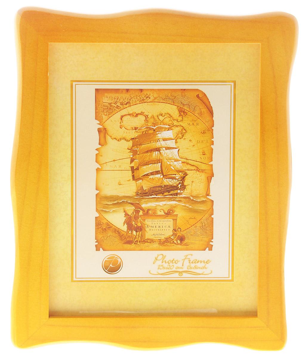 Фоторамка Pioneer Susanna, цвет: темно-желтый, 15 x 20 смRG-D31SФоторамка Pioneer Susanna выполнена из высококачественного дерева и стекла, защищающего фотографию. Оборотная сторона рамки оснащена специальной ножкой, благодаря которой ее можно поставить на стол или любое другое место в доме или офисе. Также на изделии имеются два специальных отверстия для подвешивания. Такая фоторамка поможет вам оригинально и стильно дополнить интерьер помещения, а также позволит сохранить память о дорогих вам людях и интересных событиях вашей жизни.
