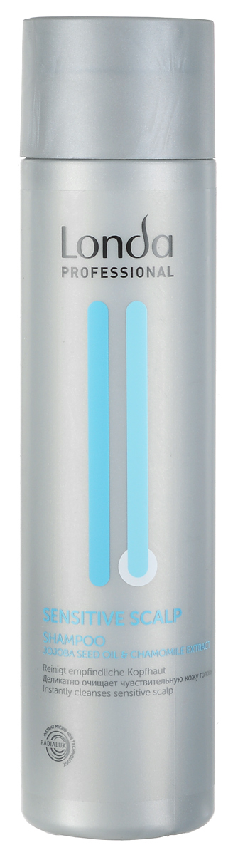 Шампунь Londa Sensitive Scalp, для чувствительной кожи головы, 250 мл0990-81524906Шампунь Londa Sensitive Scalp мягко очищает волосы, успокаивая чувствительную кожу головы. Идеально подходит для применения после химического воздействия на волосы. Без запаха. Характеристики:Объем: 250 мл. Производитель: Германия. Товар сертифицирован.