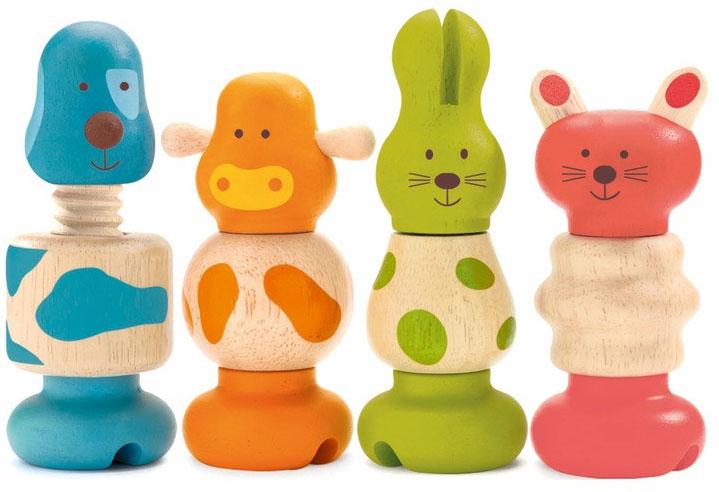 """Игровой набор Djeco """"Животные"""" позволит весело и полезно провести время. Во время игры ребенок познакомится с основными цветами, научиться различать фигуры, форму и цвет, тренировать логическое мышление и мелкую моторику пальчиков рук."""