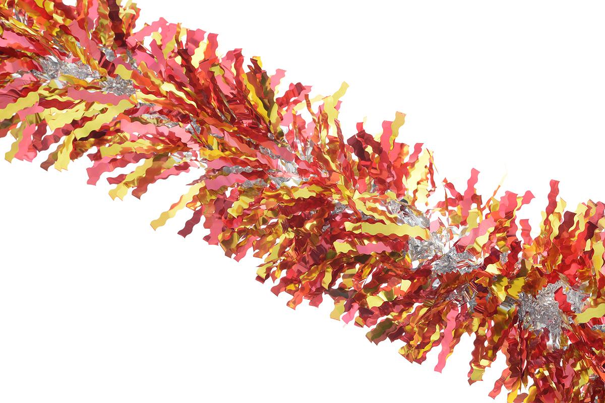 Мишура новогодняя Sima-land, цвет: красный, золотистый, диаметр 13 см, длина 200 см. 825987NN-612-LS-PLПушистая новогодняя мишура Sima-land, выполненная из двухцветной фольги, поможет вамукрасить свой дом к предстоящим праздникам. А новогодняя елка с таким украшением станетеще наряднее. Мишура армирована, то есть имеет проволоку внутри и способна сохранятьпридаваемую ей форму. Новогодней мишурой можно украсить все, что угодно - елку, квартиру, дачу, офис - как внутри, таки снаружи. Можно сложить новогодние поздравления, буквы и цифры, мишурой можно украсить идополнить гирлянды, можно выделить дверные колонны, оплести дверные проемы.