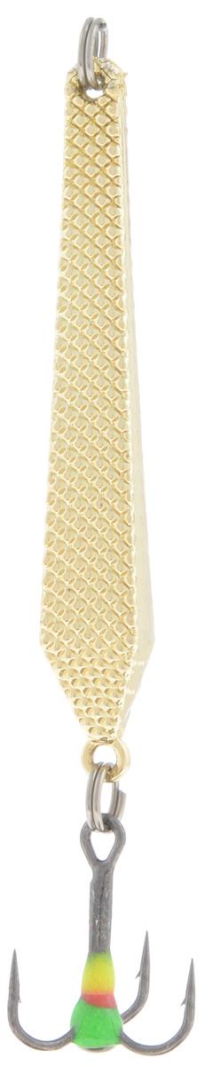 Блесна зимняя SWD, цвет: золотой, 55 мм, 6 г8276-CБлесна зимняя SWD - это классическая вертикальная блесна. Выполнена из высококачественного металла. Предназначена для отвесного блеснения рыбы. Блесна оснащена тройником со светонакопительной каплей.