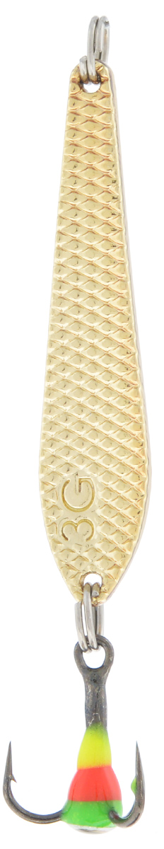 Блесна зимняя SWD, цвет: золотой, 43 мм, 3 г54298Блесна зимняя SWD - это классическая вертикальная блесна. Выполнена из высококачественного металла. Предназначена для отвесного блеснения рыбы. Блесна оснащена тройником со светонакопительной каплей.