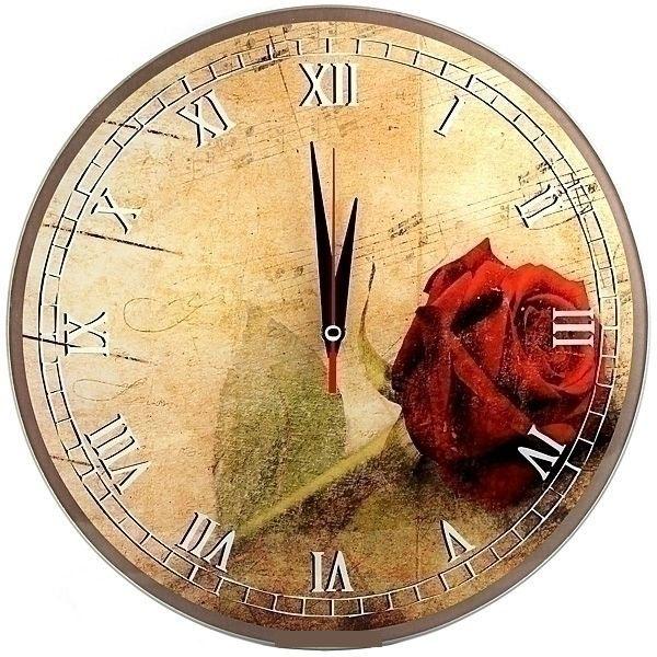 Часы настенные Эврика Роза, цвет: красный, желтый, зеленый94672Оригинальные настенные часы Роза круглой формы выполнены из стекла и оформлены изображением розы. Часы имеют три стрелки - часовую, минутную и секундную. Циферблат часов не защищен. Необычное дизайнерское решение и качество исполнения придутся по вкусу каждому. Оформите свой дом таким интерьерным аксессуаром или преподнесите его в качестве презента друзьям, и они оценят ваш оригинальный вкус и неординарность подарка.Диаметр часов: 28 см.Работают от батарейки типа АА (в комплект не входит).