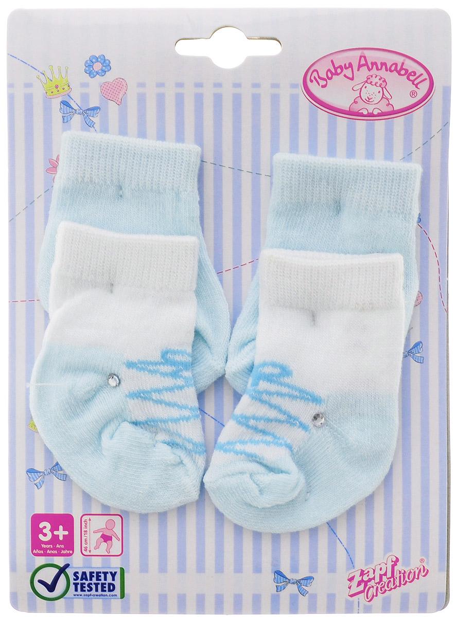Baby Annabell Одежда для кукол Носки 2 пары цвет мятный белый baby annabell подгузники для куклы baby annabell