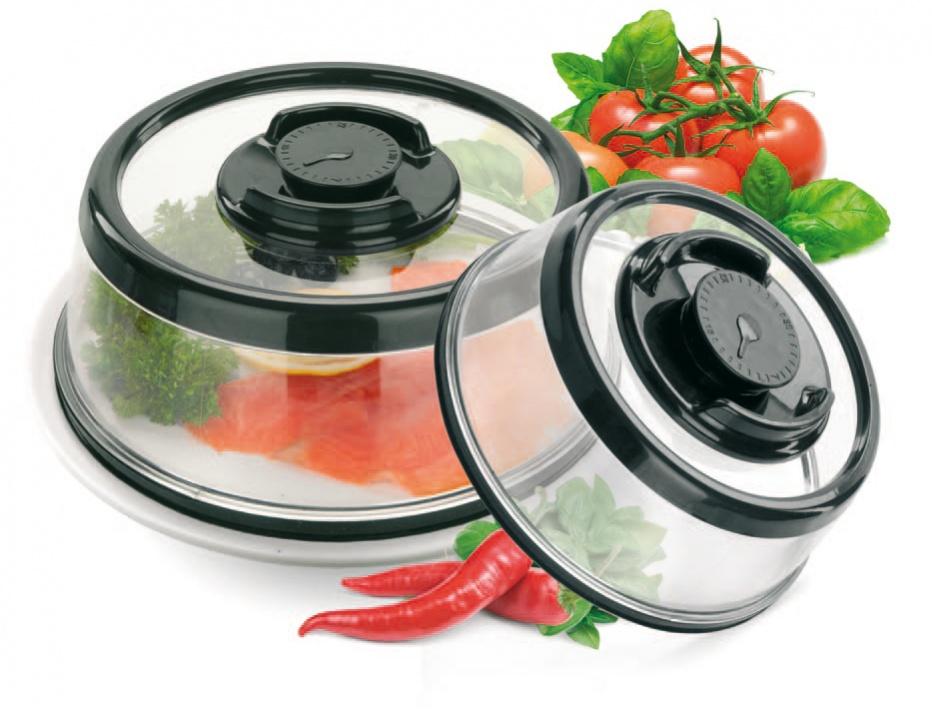 Набор вакуумных крышек-прессов Bradex, TK 0167391602Благодаря набору вакуумных крышек-прессов Bradex,вы сможете подготовить необходимые блюда заранее, а мясо, сыры, салаты и даже свежие овощи останутся такими же вкусными и аппетитными.Набор вакуумных крышек-прессов является незаменимым помощником не только при подготовке к торжествам, но и в повседневной жизни. Только представьте, что для сохранения свежести продуктов вам нужно всего лишь накрыть крышкой тарелку, сковороду, кастрюлю или разделочную доску и нажать на кнопку, создающую вакуум под крышкой. Больше никаких пакетов, контейнеров, фольги и пленки.Преимущества: Надолго сохраняют свежесть продуктов благодаря созданию вакуума. Не позволяют блюдам впитать посторонние запахиМогут использоваться в микроволновой печи Горячие блюда под крышкой дольше сохранят свою температуру, дожидаясь вашу семью к ужинуВ комплект входят две крышки разного размераПросты в использованииНастолько крепко фиксируются на посуде, что вам не придется волноваться о том, что что-то прольетсяКомпактны при хранении. Диаметр большой крышки - 25 см, высота - 11 см Диаметр малой крышки - 19 см, высота - 8,5 см.