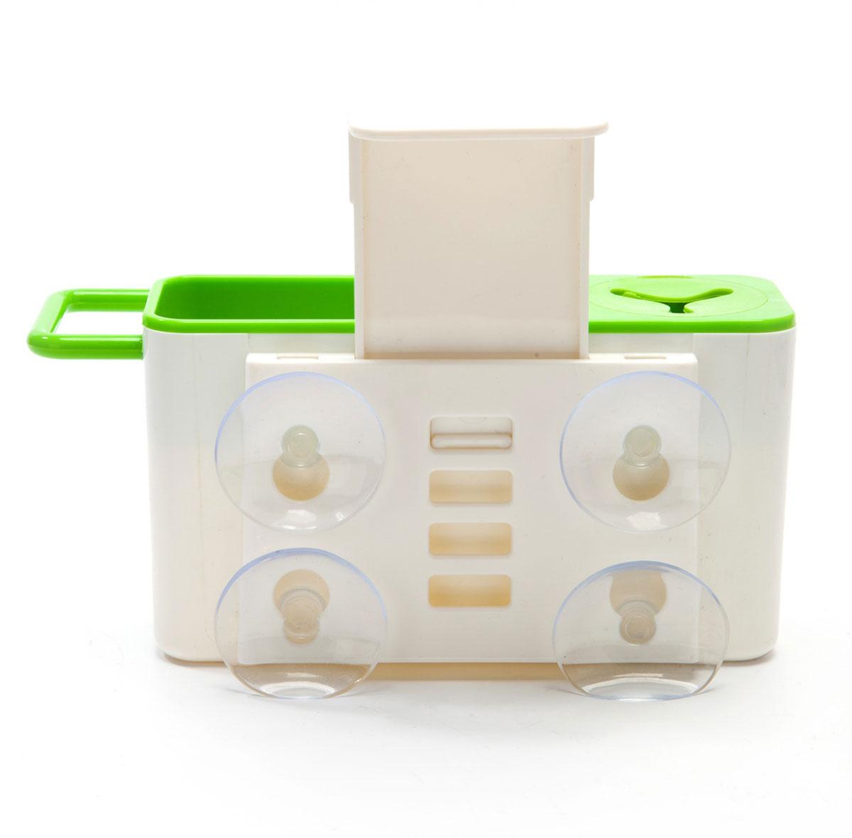 Органайзер для раковины BradexRG-D31SОрганайзер для раковины Bradex - это удобное и вместительное приспособление для хранения различных принадлежностей для мытья посуды и столешниц. Он плотно крепится на стенку раковины при помощи сильных присосок, таким образом, все необходимое для мытья посуды оказывается в одном удобном месте. Органайзер имеет отделение для губок, перекладину для тряпок, а также отверстие для щеток с ручкой. Благодаря особой конструкции дна органайзера излишки воды или мыла не задерживаются в резервуаре, а стекают прямо в раковину. Кроме того, органайзер для раковины легко разбирается и моется.