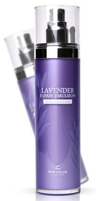 THE SKIN HOUSE Эмульсия с экстрактом лаванды LAVENDER, 120 млFS-00897Эмульсия с экстрактом лаванды, 120мл,Восстанавливающий осветляющий лосьон с натуральным экстрактом лаванды - это вторая ступень ежедневного ухода за кожей после применения тоника. Эмульсия интенсивно питает и увлажняет кожу, а так же содержит специальный комплекс осветляющих пигментацию ингредиентов, одобренных Управлением по контролю за продуктами питания и лекарствами Кореи. Эмульсия с лавандой смягчает кожу и выравнивает ее тон, содержит 104 вида ферментированных ингредиентов для здоровья и сияния кожи. Эмульсия имеет легкий релаксирующий аромат и легкую нежирную текстуру эмульсии