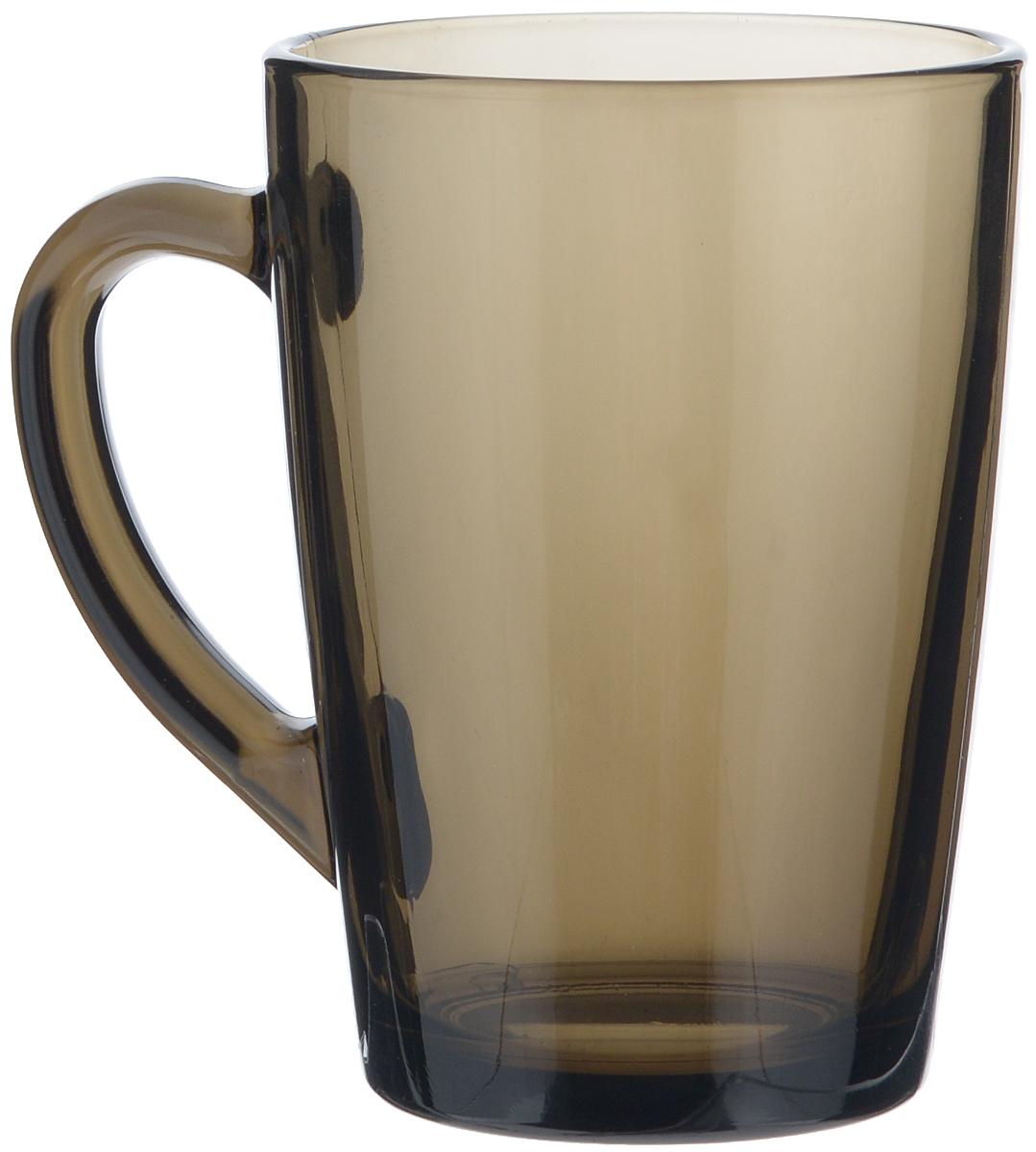 Кружка Luminarc С добрым утром, цвет: дымчатый, 320 мл115510Кружка Luminarc С добрым утром изготовлена из упрочнённого стекла. Такая кружка прекрасно подойдет для горячих и холодных напитков. Она дополнит коллекцию вашей кухонной посуды и будет служить долгие годы. Можно использовать в посудомоечной машине и СВЧ. Объем кружки: 320 мл. Диаметр кружки (по верхнему краю): 8 см. Высота стенки кружки: 11 см.