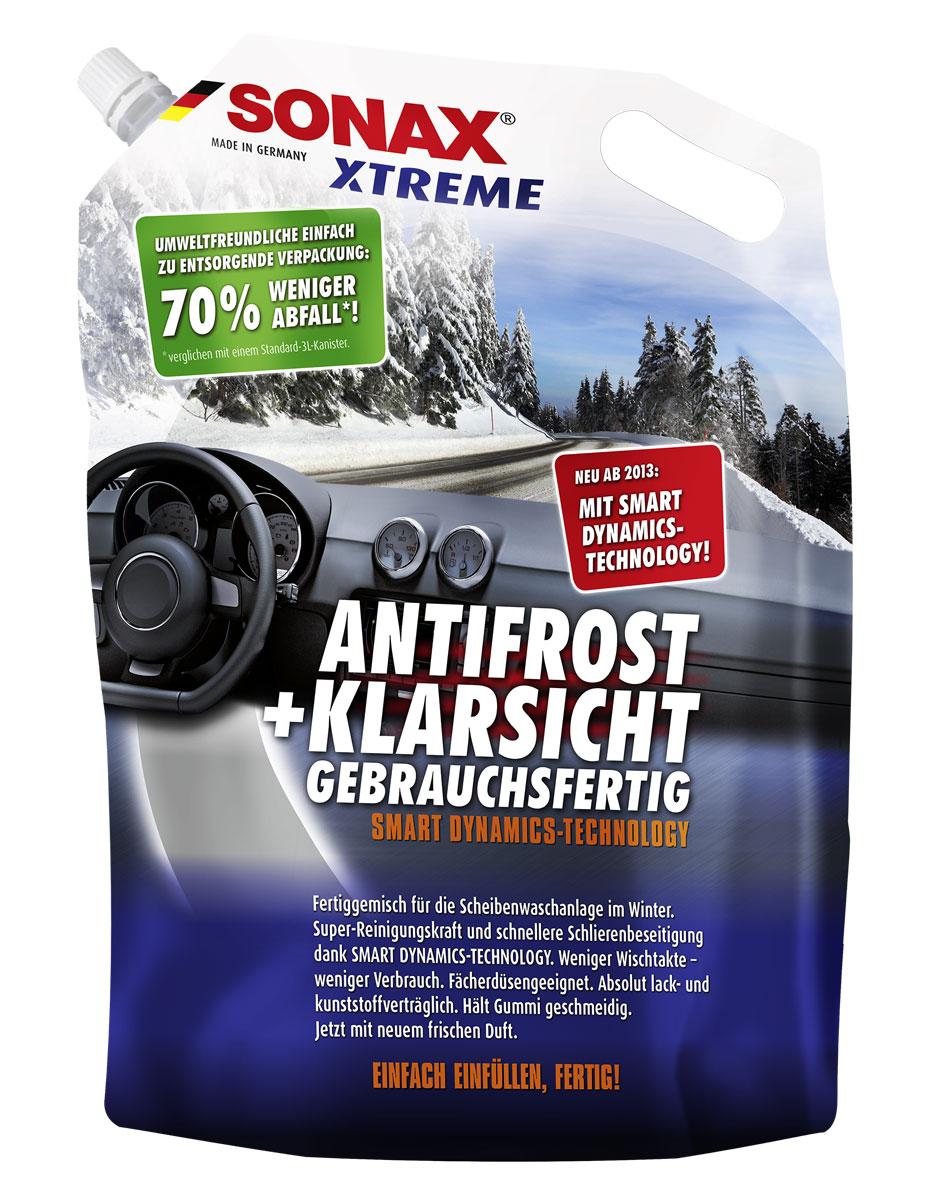 Автостеклоочиститель зимний Xtreme -20 SONAX(3литра)55302Не замерзает в бачке стеклоомывателя. Может смешиваться с водой любой степени жесткости. Быстро удаляет загрязнения и обеспечивает чистый обзор. Не повреждает пластик и лакокрасочное покрытие. Не повреждает антибликовое покрытие стекол. Идеально подходит для ксеноновых фар. Содержит глицерин. Не повреждает стеклоочищающие щетки и продлевает срок их службы.