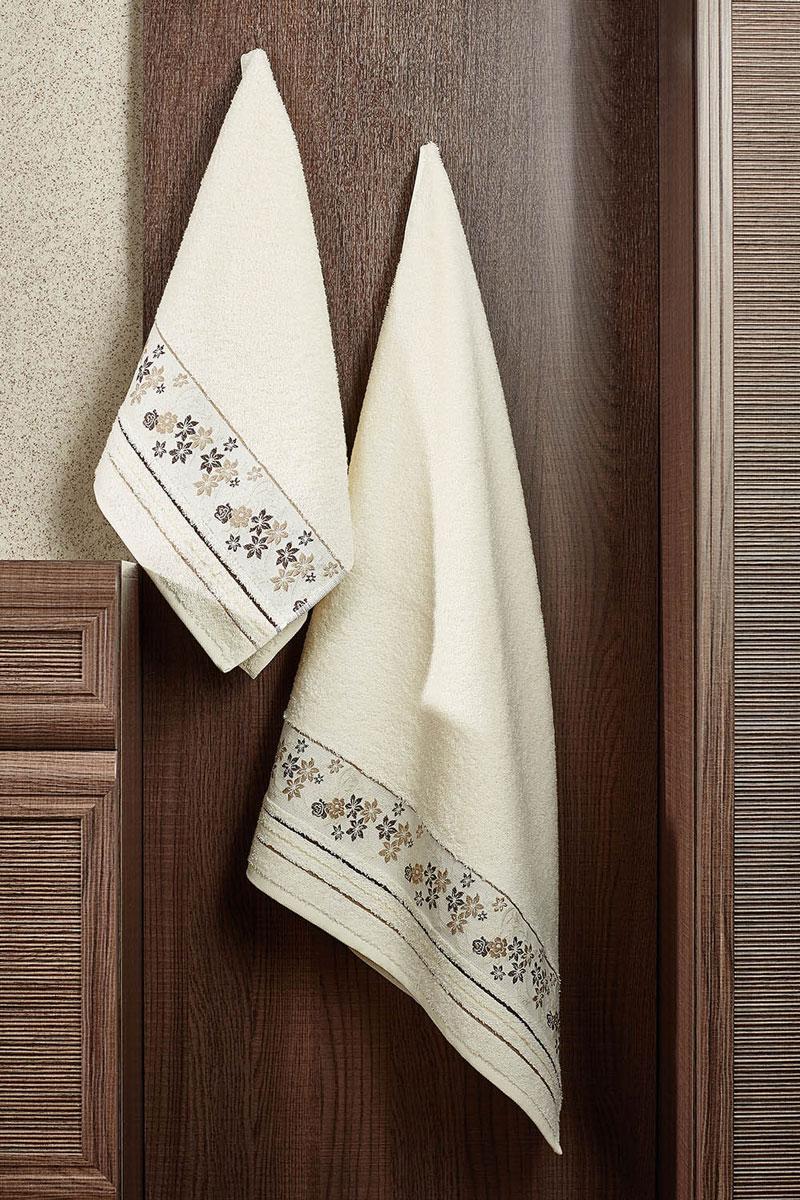 Полотенце махровое Primavelle Mile, цвет: слоновая кость, 70 см х 140 см531-105Махровое полотенце Primavelle Mile - невероятно стильный и современный аксессуар для вашей ванной. Полотенце, изготовленное из натурального хлопка соригинальной цветочной вышивкой, подарит массу положительных эмоций и приятных ощущений. Изделие отличается нежностью и мягкостью материала, утонченным дизайном и превосходным качеством. Оно прекрасно впитывает влагу, быстро сохнет и не теряет своих свойств после многократных стирок. Махровое полотенце Primavelle Mile станет достойным выбором для вас и приятным подарком для ваших близких.