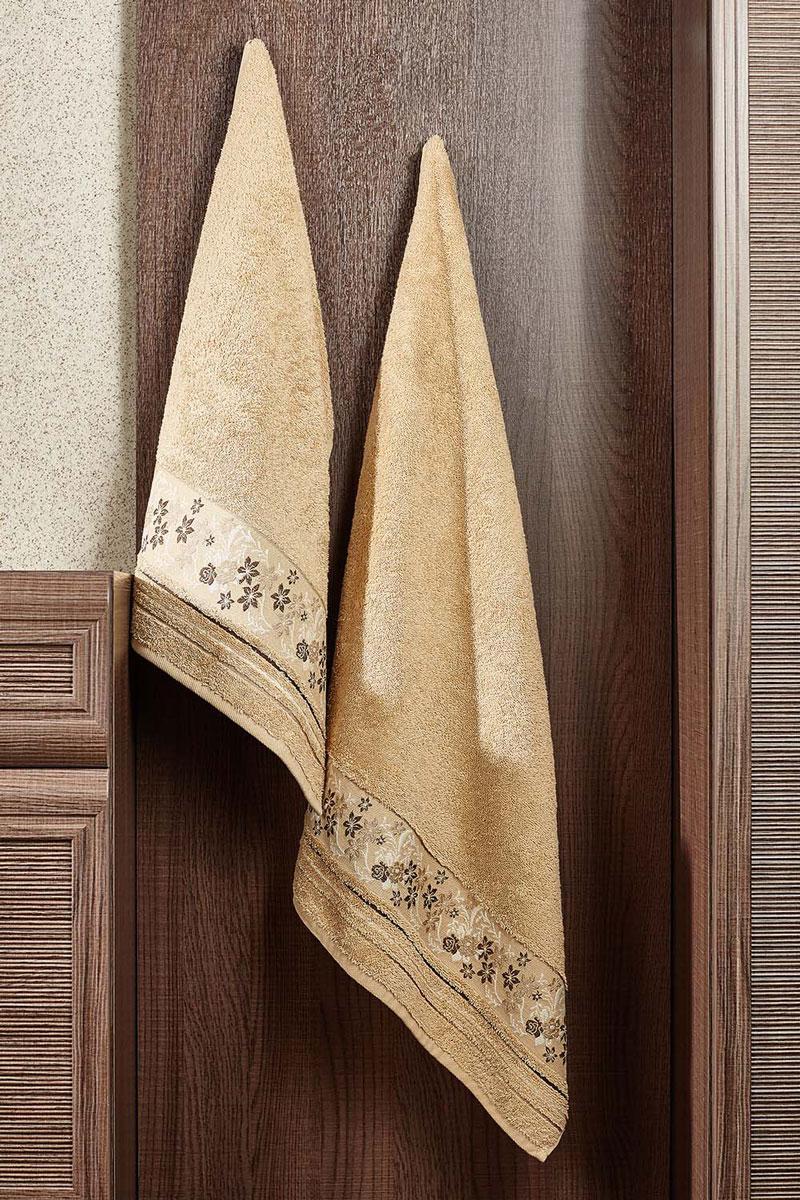 Полотенце махровое Primavelle Mile, цвет: бежево-песочный, 70 х 140 см68/5/2Махровое полотенце Primavelle Mile - невероятно стильный и современный аксессуар для вашей ванной. Полотенце, изготовленное из натурального хлопка с оригинальной цветочной вышивкой, подарит массу положительных эмоций и приятных ощущений. Изделие отличается нежностью и мягкостью материала, утонченным дизайном и превосходным качеством. Оно прекрасно впитывает влагу, быстро сохнет и не теряет своих свойств после многократных стирок. Махровое полотенце Primavelle Mile станет достойным выбором для вас и приятным подарком для ваших близких.