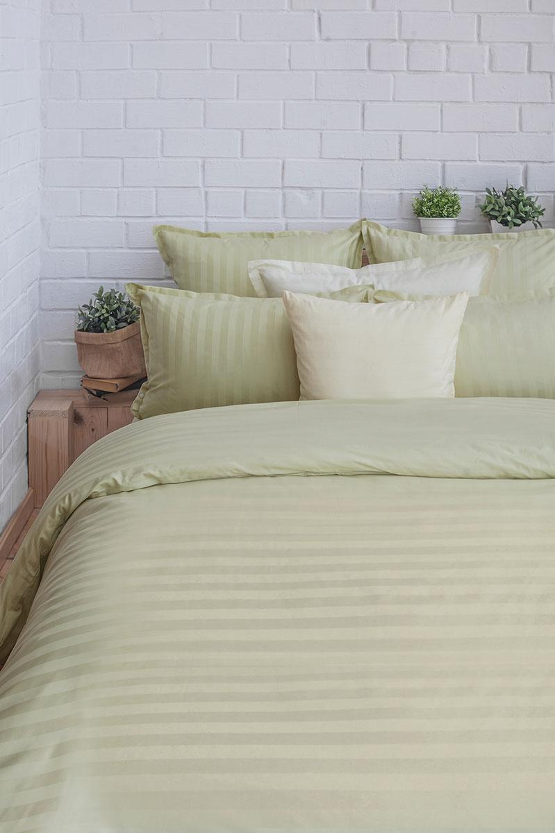 Комплект постельного белья Оливковый сад (зеленый) сатин, 205ТС, 100% хлопок, дуэтK100Концепция удобства 1. Экономия времени и сил. Благодаря наличию в верхней части пододияльника специальных клапанов для рук заправить одеяло можно в 3 раза быстрее. 2. Удобство использования и экономия. Наволочка-трансформер: благодаря особой модели пошива и наличию специальных декоративных кнопок наволочка размером 70х70 см с легкостью трансформируется в наволочку 50х70 см- больше не нужно переплачивать за неиспользуемые размеры наволочек. Плотность плетения ткани: 130 +- 5 гр/м2