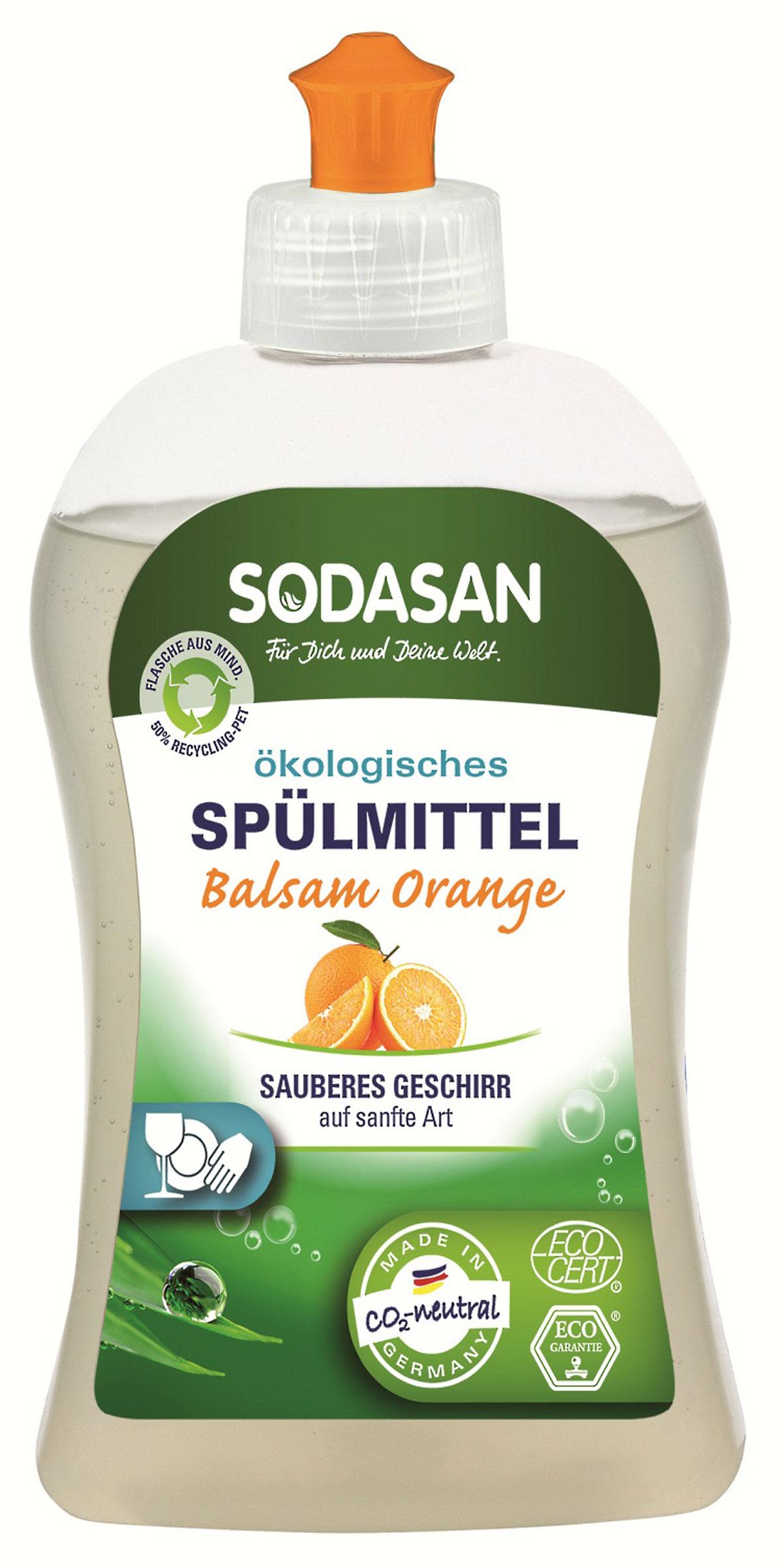 Жидкое средство Sodasan для мытья посуды, с запахом апельсина, 500 мл16218Жидкое средство Sodasan качественно и безопасно моет посуду без лишних усилий. Быстро удаляет загрязнения и жир. Придает посуде блеск и не оставляет разводов.В состав входят только безопасные растительные ингредиенты органического происхождения.Специальная формула защищает ваши руки от пересыхания и делает их мягкими на ощупь.Экономично в использовании.