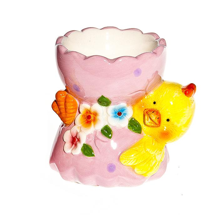 Подставка под 1 яйцо Цыпленок в скорлупе, 7*6*6,5 см, керамика, цыпленок на спинке95134Подставка под 1 яйцо Цыпленок в скорлупе, 7*6*6,5 см, керамика, цыпленок на спинке