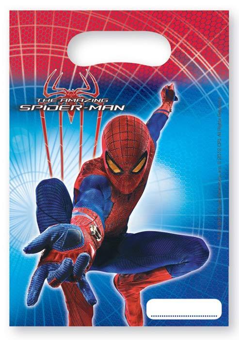 Новый Человек-Паук - это кинонивинка 2012 года, в которой будет рассказываться об истории супергероя с самого начала. На каждом детском празднике устраивают конкурсы, где победителю вручают небольшой презент. В таком случае пригодится небольшой пакетик с красочным рисунком любимого персонажа. В набор входит 6 пакетиков с Новым Человеком-Пауком.