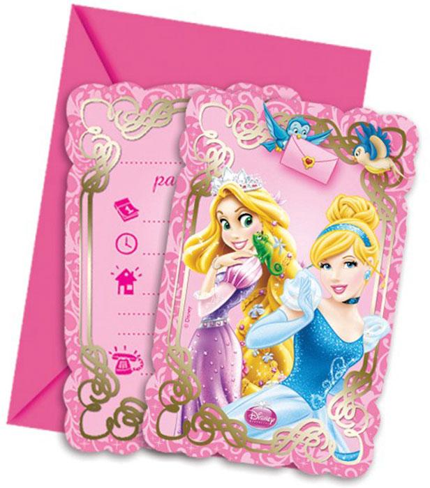 Procos Приглашения в конвертах Принцессы и животные 6 шт