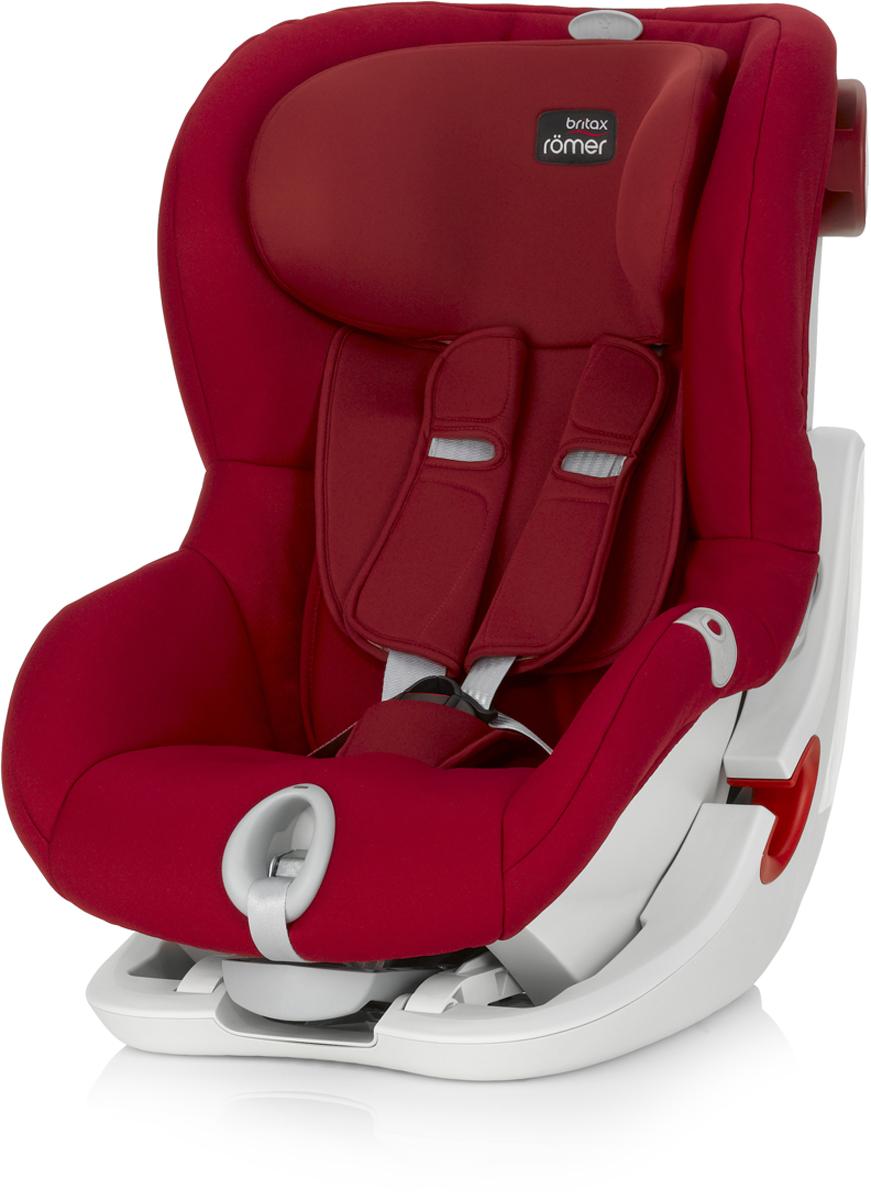 Romer Автокресло King II LS Flame Red от 9 до 18 кг98295719Автокресло Romer King II LS группы 1 предназначено для детей весом от 9 до 18 кг (от 9 месяцев до 4 лет). Автокресло оснащено уникальной системой световой индикации натяжения ремня безопасности и складывающимся вперед сиденьем для удобства установки. Установка в автомобиле с помощью штатного ремня безопасности. Для удобства использования была создана специальная система светового оповещения, чтобы правильно оценить степень натяжения ремня. Для её активации нужно усадить ребенка в автокресло, отрегулировать плечевые накладки, защелкнуть замок, и потянуть за ремень снизу автокресла на себя до включения зеленого индикатора. Можно ехать, ваш ребенок надежно зафиксирован в автокресле. Особенности:Light System - световой индикатор ремня безопасности: определяет правильность натяжения ремня.Интуитивно понятная установка в автомобиль: откидывающаяся чаша и запатентованная система донатяжения штатного ремня.Легкая регулировка по высоте одной рукой - подголовник поднимается вместе с ремнями безопасности.Мягкие глубокие боковины и плечевые накладки, обеспечивают оптимальную защиту.5-ти точечные ремни безопасности с централизованной системой натяжения регулируются одной рукой.Держатели для ремня безопасности.Регулировка наклона автокресла позволяет изменить положение, не потревожив сон ребенка.Чехол из мягкой ткани быстро снимается, не зависимо от ремней безопасности.