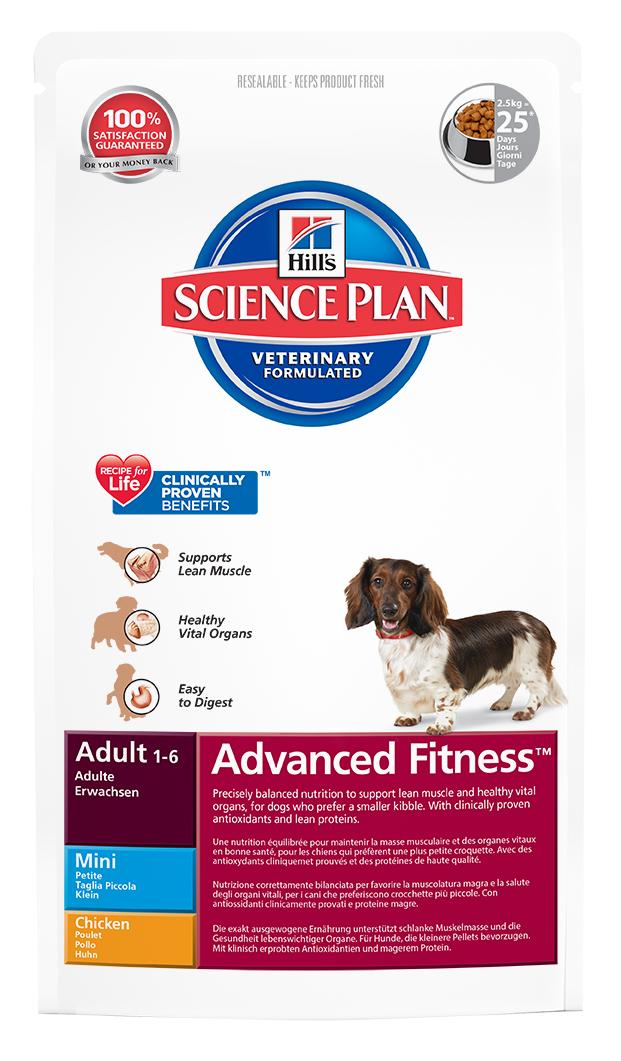 Корм сухой Hills Advanced Fitness для взрослых собак мелких пород, с курицей, 2,5 кг3269Корм сухой Hills предназначен для взрослых собак мелких пород в возрасте от 1 года до 6 лет. Разработан для поддержания мускулатуры и здоровья жизненно важных органов у собак, предпочитающих мелкие гранулы. С антиоксидантами с клинически подтвержденным эффектом, протеином для мускулатуры и Омега-3 жирными кислотами. Ключевые преимущества: Высоко перевариваемый протеин для крепкой мускулатуры. Поддерживает здоровье внутренних органов благодаря оптимальному балансу фосфора и натрия. Высоко перевариваемые ингредиенты. Великолепный вкус. Состав: курица (минимум 20% курицы, 30% общего содержания мяса домашней птицы), молотая кукуруза, мука из мяса домашней птицы, соевая мука, животный жир, мука из маисового глютена, гидролизат белка, растительное масло, соль, семя льна, калия цитрат, L-лизина гидрохлорид, кальция карбонат, таурин, L-триптофан, витамины и микроэлементы. Содержит натуральные консерванты - смесь токоферолов, лимонную кислоту и экстракт розмарина. Среднее содержание нутриентов в рационе: протеины 21,77%, жиры 15,03%, углеводы 48,3%, клетчатка (общая) 1,67%, кальций 0,74%, фосфор 0,64%, натрий 0,28%, калий 0,69%, магний 0,08%, Омега-3 жирные кислоты 0,47%, Омега-6 жирные кислоты 3,39%, витамин A 6569,43 МЕ/кг, витамин D 729,64 МЕ/кг, витамин E 600 мг/кг, витамин С 90 мг/кг, бета-каротин 1,5 мг/кг. Энергетическая ценность: 373 Ккал/100 г. Товар сертифицирован.Уважаемые клиенты!Обращаем ваше внимание на возможные изменения в дизайне упаковки. Качественные характеристики товара остаются неизменными. Поставка осуществляется в зависимости от наличия на складе.