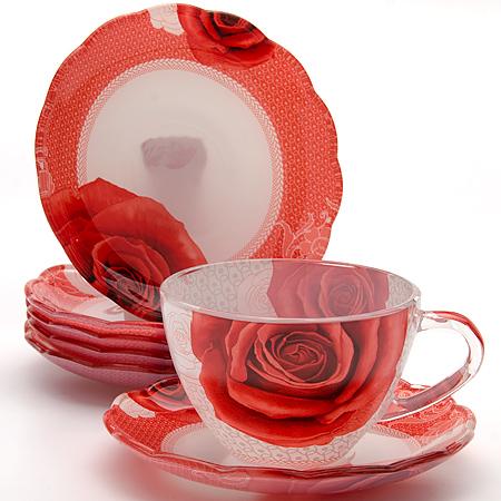 24122 Чайный набор стекло 12пр (200мл) LR (х8)VT-1520(SR)Чайный сервиз (12 предметов)12 предметов:- чашка (6 шт)- болюдце (6 шт)Материал: стеклоРазмер упаковки: 40х19х6,8Объем: 200 млВес: 2,1 кгЧайный набор, выполненный из высококачественного прочного стекла, состоит из шести чашек и шести блюдец. Изделия декорированы изящным изображением цветов. Элегантный дизайн и совершенные формы предметов набора привлекут к себе внимание и украсят интерьер вашей кухни. Набор идеально подойдет для сервировки стола и станет отличным подарком к любому празднику. Подходит как для горячих, так и для холодных напитков.
