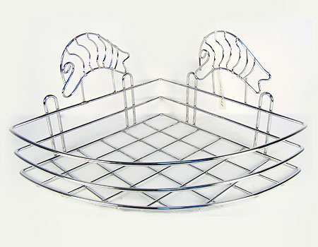 Полочка Mayer & Boch, угловая, высота 15 см98299571Угловая полка для ванной комнаты Mayer & Boch отлично подойдет для хранения различных ванных принадлежностей. Полка впишется практически в любой интерьер ванной и поможет эффективно организовать пространство.Высота полки: 15 см.Материал корпуса: хромированная сталь.