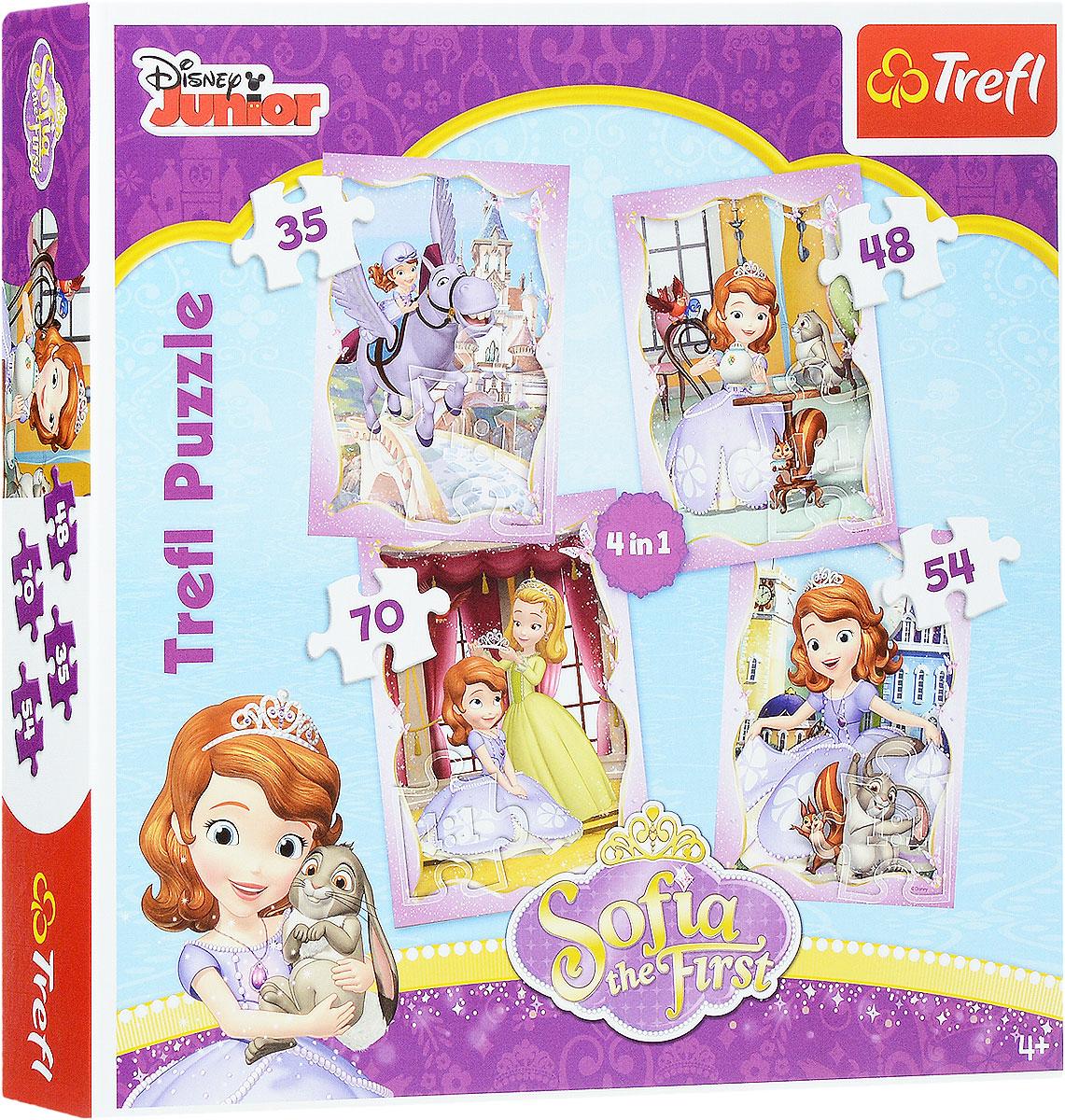 TreflПазл 4 в 1 Счастливый день Софии Trefl Puzzle