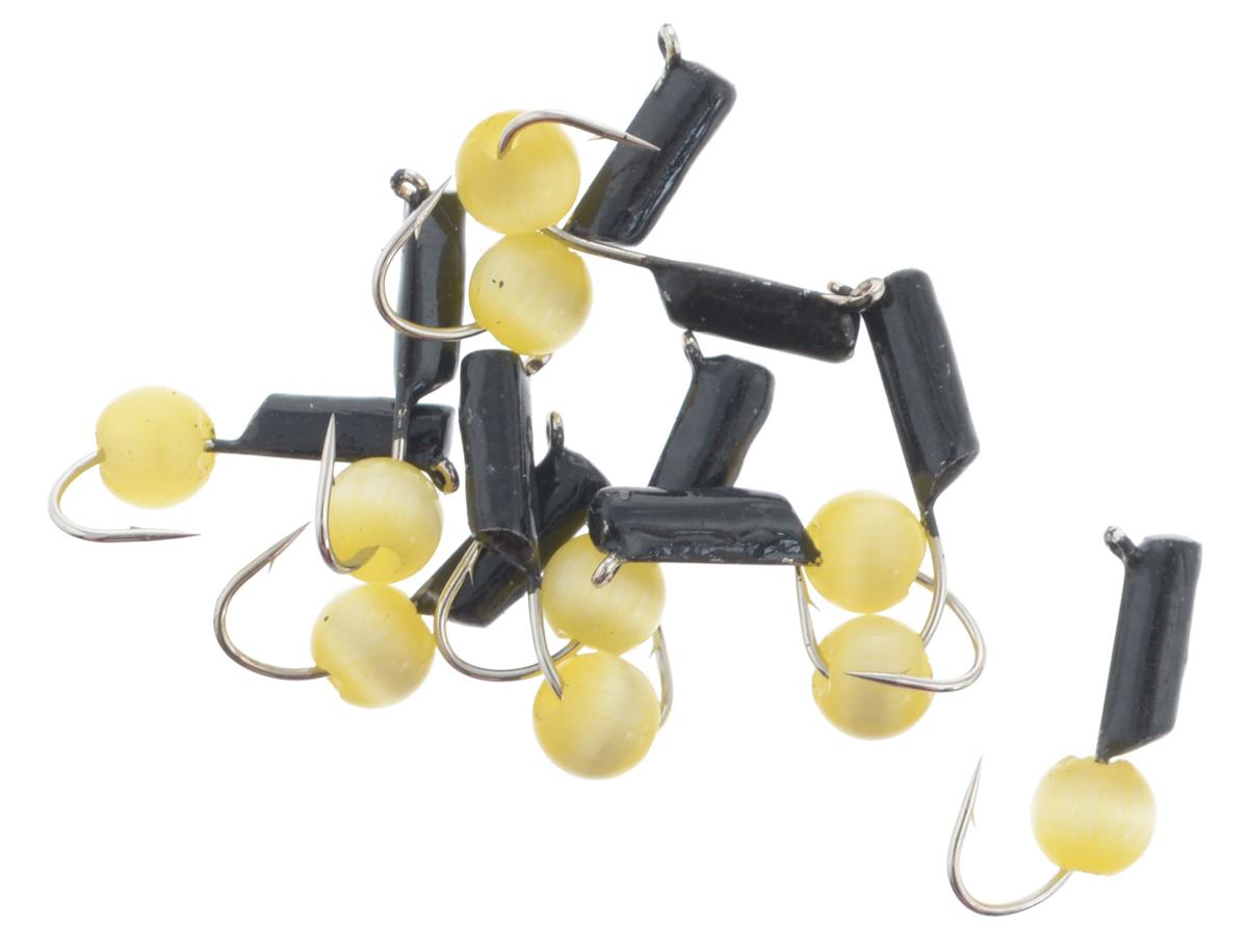 Мормышка вольфрамовая True Weight Кошачий глаз, подвес, цвет: желтый, диаметр 2 мм, 10 штLJME47-101Безнасадочная мормышка True Weight Кошачий глаз изготовлена из вольфрама и оснащена крючком. Главное достоинство вольфрамовой мормышки - большой вес при малом объеме. Эта особенность дает большие преимущества при ловле, так как позволяет быстро погрузить приманку на требуемую глубину и лучше чувствовать игру мормышки.Диаметр мормышки: 2 мм.