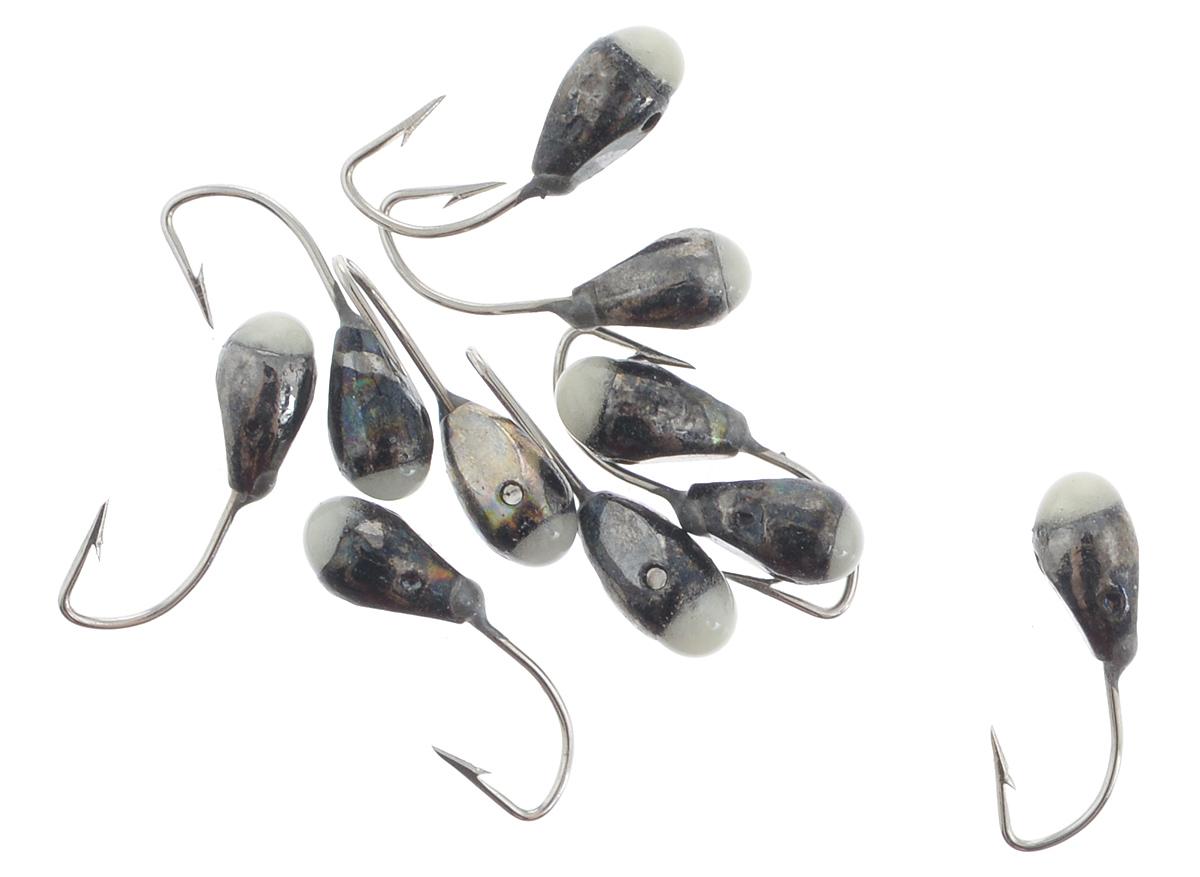 Мормышка вольфрамовая Dixxon-Russia, капля с отверстием и фосфором, цвет: черный никель, диаметр 3 мм, 10 шт010-01199-23Мормышка Dixxon-Russia изготовлена из вольфрама и оснащена крючком. Главное достоинство вольфрамовой мормышки - большой вес при малом объеме. Эта особенность дает большие преимущества при ловле, так как позволяет быстро погрузить приманку на требуемую глубину и лучше чувствовать игру мормышки.Диаметр мормышки: 3 мм.