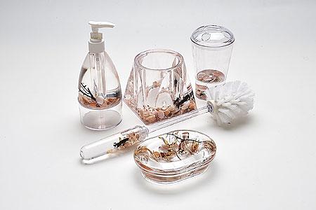 8646 Набор SK для ван.ком. Цветы(х6)18716Набор для ванной с украшениямив подарочной упаковке