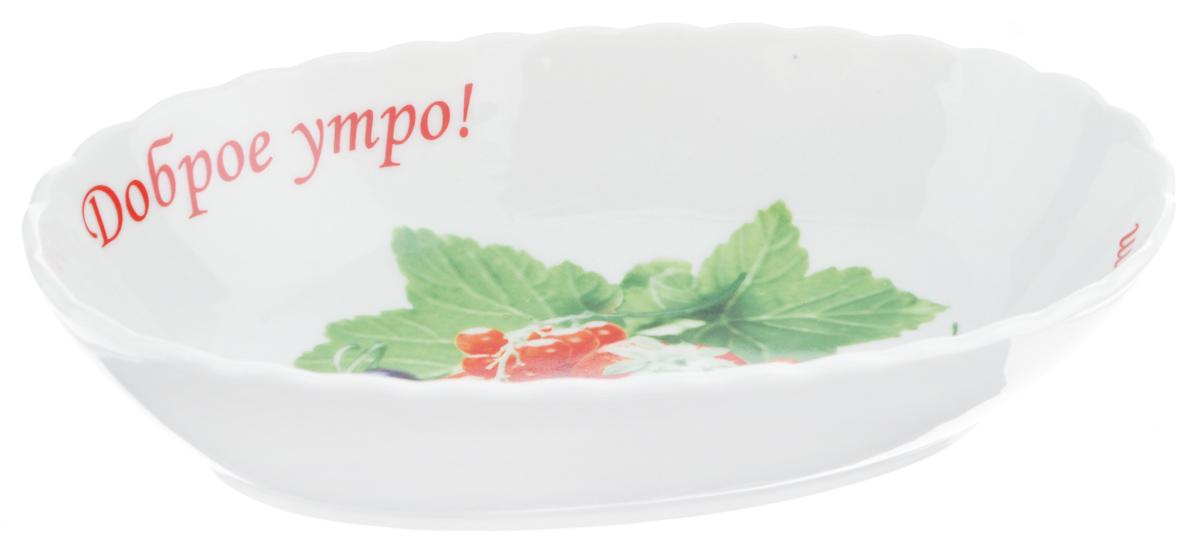 Салатник LarangE Ягодный десерт, цвет: белый, красный, зеленый, 20,5 х 12,5 х 5 смFS-91909Салатник LarangE Ягодный десерт изготовлен из керамики. Слегка закругленные края обеспечивают естественное оптимальное положение и удобное выливание жидкости.Салатник LarangE Ягодный десерт станет полезным и практичным дополнением к коллекции ваших кухонных аксессуаров.Диаметр салатника: 20,5 см х 12,5 см.Высота стенок салатника: 5 см.