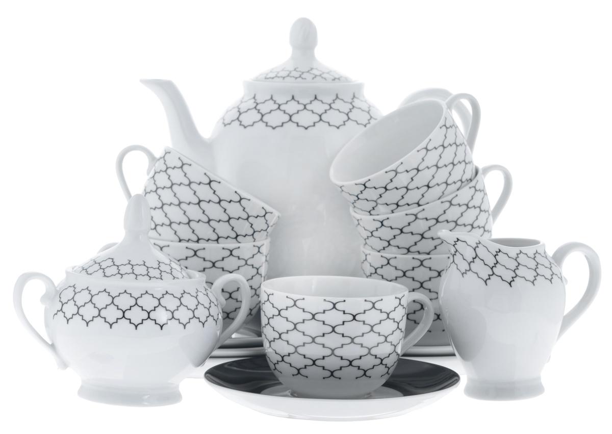 Сервиз чайный Bekker Koch, 15 предметов. BK-71456935101009Сервиз чайный Bekker Koch состоит из шести чашек, шести блюдец, заварочного чайника, молочника и сахарницы, изготовленных из фарфора. Предметы набора оформлены красочным изображением.Изящный дизайн придется по вкусу и ценителям классики, и тем, кто предпочитает утонченность и изысканность. Он настроит на позитивный лад и подарит хорошее настроение с самого утра. Сервиз чайный - идеальный и необходимый подарок для вашего дома и для ваших друзей в праздники, юбилеи и торжества! Он также станет отличным подарком и украшением любой кухни.Можно мыть в посудомоечной машине.Объем чашек: 220 мл.Диаметр чашек (по верхнему краю): 8,5 см.Высота чашек: 6,5 см.Диаметр блюдец (по верхнему краю): 15,4 см.Высота блюдец: 2 см.Объем сахарницы: 280 мл.Высота сахарницы (с учетом крышки): 13 см.Диаметр сахарницы (по верхнему краю): 8 см. Объем чайника: 1,1 л.Высота чайника (с учетом крышки): 23 см.Диаметр чайника (по верхнему краю): 8 см. Объем молочника: 280 мл.Высота молочника: 10,5 см.Размер молочника по верхнему краю (с учетом носика): 7 см х 5 см.