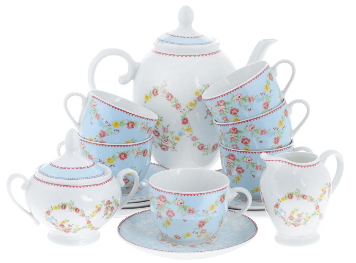 Сервиз чайный Bekker Koch, 15 предметов. BK-7143DP-D18-B2Сервиз чайный Bekker Koch состоит из шести чашек, шести блюдец, заварочного чайника, молочника и сахарницы, изготовленных из фарфора. Предметы набора оформлены красочным изображением цветов.Изящный дизайн придется по вкусу и ценителям классики, и тем, кто предпочитает утонченность и изысканность. Он настроит на позитивный лад и подарит хорошее настроение с самого утра. Сервиз чайный - идеальный и необходимый подарок для вашего дома и для ваших друзей в праздники, юбилеи и торжества! Он также станет отличным подарком и украшением любой кухни.Можно мыть в посудомоечной машине.Объем чашек: 220 мл.Диаметр чашек (по верхнему краю): 8,5 см.Высота чашек: 6,5 см.Диаметр блюдец (по верхнему краю): 15,4 см.Высота блюдец: 2 см.Объем сахарницы: 280 мл.Высота сахарницы (с учетом крышки): 13 см.Диаметр сахарницы (по верхнему краю): 8 см. Объем чайника: 1,1 л.Высота чайника (с учетом крышки): 23 см.Диаметр чайника (по верхнему краю): 8 см. Объем молочника: 280 мл.Высота молочника: 10,5 см.Размер молочника по верхнему краю (с учетом носика): 7 см х 5 см.