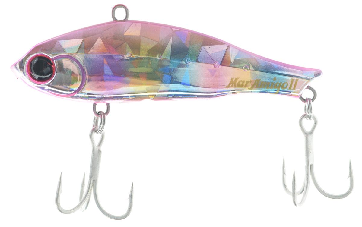 Воблер Maria Mar Amigo II, до дна, цвет: розовый, голубой, 6,5 см, 15 г49648Воблер типа раттлин Maria Mar Amigo II предназначен для ловли хищных видов рыб. Изделие обладает хорошими полетными качествами и быстрой скоростью погружения. Корпус выполнен из прочного металла и пластика, благодаря чему хищным рыбам сложно сломать воблер. Приманка оснащена двумя тройными крючками.