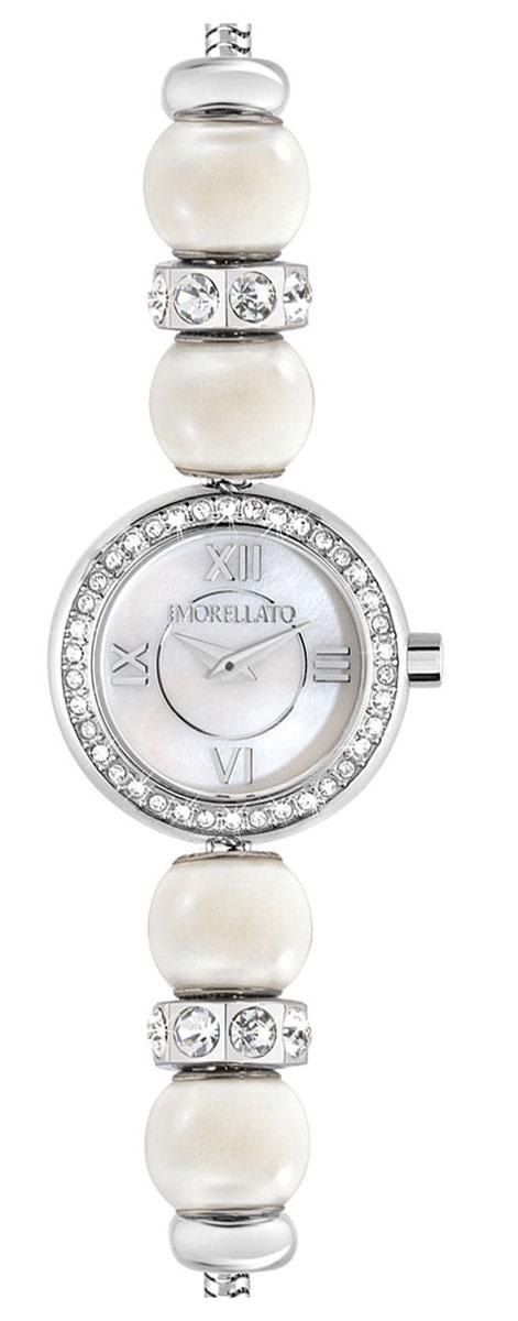 Часы наручные женские Morellato Drops Time, цвет: серебристый. R0153122520BM8434-58AEЭлегантные женские часы Morellato Drops Time изготовлены из нержавеющей стали и минерального стекла. Корпус и браслет изделия украшены стразами, браслет дополнен бусинами, имитирующими жемчужины.Корпус часов имеет степень влагозащиты равную 3 Bar, оснащен кварцевым механизмом, а также устойчивым к царапинам минеральным стеклом. Практичный замочек-карабин, предусмотренный в конструкции браслета, позволит с легкостью снимать и надевать изделие.Часы поставляются в фирменной упаковке.Часы Morellato Drops Time подчеркнут изящность женской руки и отменное чувство стиля у их обладательницы.