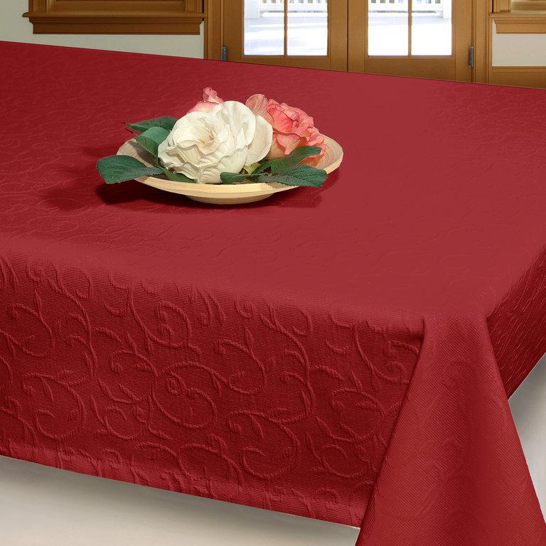 Скатерть Schaefer, прямоугольная, цвет: бордовый, 150 х 250 см 07419-4511004900000360Прямоугольная скатерть Schaefer, выполненная из поликоттона (50% хлопок, 50% полиэстер) с рельефным узором, станет изысканным украшением стола. Использование такой скатерти сделает застолье торжественным, поднимет настроение гостей и приятно удивит их вашим изысканным вкусом. Также вы можете использовать эту скатерть для повседневной трапезы, превратив каждый прием пищи в волшебный праздник и веселье. Это текстильное изделие станет изысканным украшением вашего дома!