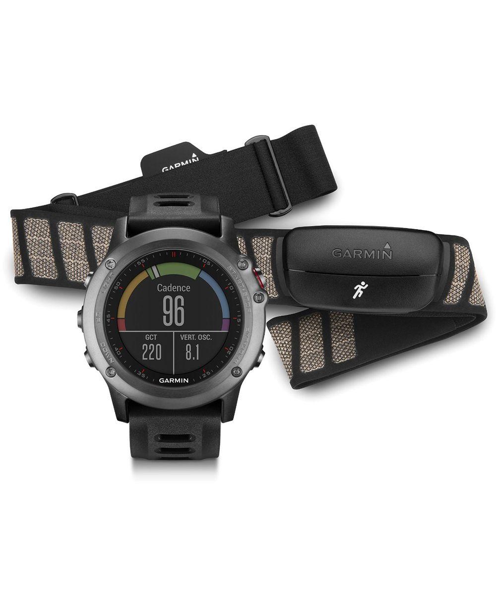 Смарт-часы Garmin fenix 3 Grey, серый с черным ремешком, HRM - Run (010-01338-11)KX-TGE110RUBНепревзойденные спортивные часы «мультиспорт» с GPSСтальная антенна EXO™ с поддержкой спутников GPS + GLONASS для быстрого приема сигналов и точного расчета местоположения1,2-дюймовый цветной дисплей Chroma™ с отличным качеством изображения даже при солнечном светеФункции для тренировок, включая VO2 Max и рекомендации по восстановлению (при использовании с пульсометром?)Навигационные функции, включая 3-осевой компас, альтиметр и барометр, TracBack и Sight'n GoСовместимость с Connect IQ™ для загрузки приложений, виджетов, циферблатов и полей данныхFenix 3 представляет собой прочные, функциональные и «умные» спортивные часы «мультиспорт» с GPS-приемником. Поскольку устройство включает в себя наборы функций для тренировок и для навигации, оно готово к любым спортивным занятиям или соревнованиям. Доступ к платформе Connect IQ позволяет настраивать циферблаты, поля данных, виджеты и действия. Благодаря компактному и легкому корпусу Fenix 3 не замедлит Вас во время тренировки и не станет помехой в повседневной жизни.Великолепный стиль, которому не страшны даже самые неблагоприятные условияЧасы Fenix 3 предлагаются в трех базовых вариантах: серый с высокопрочным стеклом, устойчивым к царапинам, и черным ремешком; серебристый с красным ремешком; модель «сапфир премиум» со стальным браслетом и сапфировым стеклом. Каждая модель оснащена защитным стальным кольцом и кнопками, а также усиленным корпусом для дополнительной надежности. Цветной ЖК-дисплей Chroma с высоким уровнем разрешения и защитой от бликов обеспечит Вам доступ к данным при любой освещенности. Прибор Fenix 3 характеризуется водостойкостью на глубине до 100 метров. Заряда батареи хватает до 50 часов в режиме UltraTrac, 16 часов в режиме GPS и до 3 месяцев в режиме часов (длительность работы зависит от настроек).Расширенные спортивные данныеМодель Fenix 3 включает в себя все необходимые для тренировок функции, которые расс