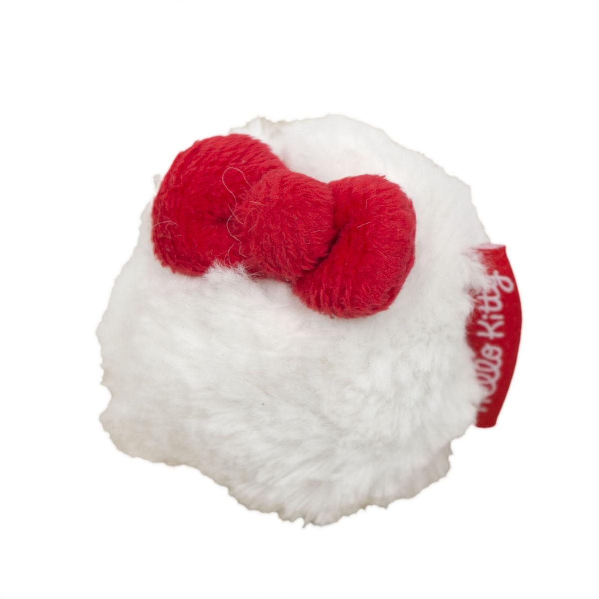 Игрушка для собак Hello Kitty Меховой мяч, диаметр 8 см0120710Игрушка для собак Hello Kitty Меховой мяч обязательно понравится вашему питомцу. Игрушка выполнена из пластика и мехового текстиля, украшена красным бантиком. Игрушка подходит для щенков и собак некрупных пород.