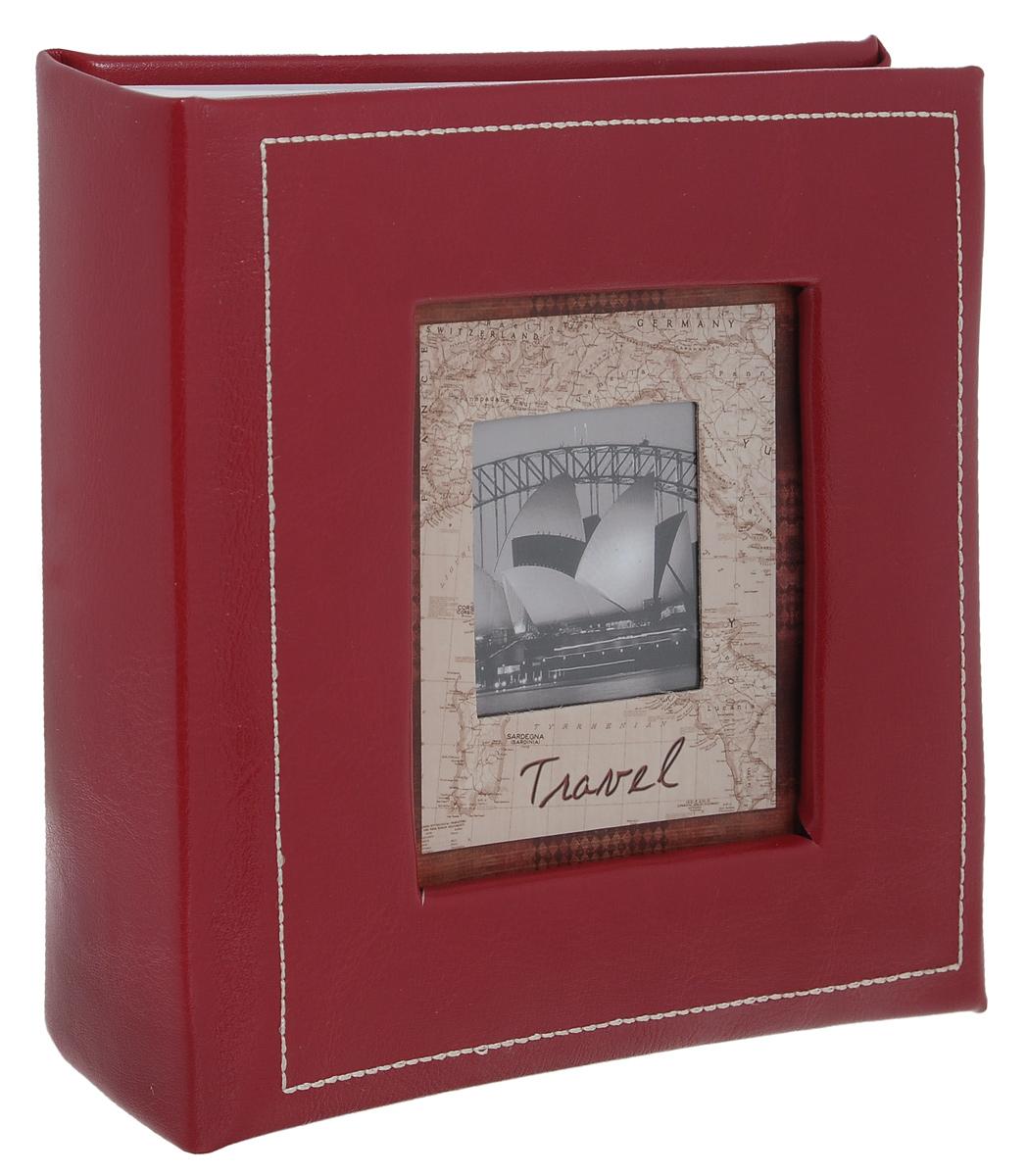 Фотоальбом Image Art Travel, цвет: бордовый, 100 фотографий, 10 x 15 см