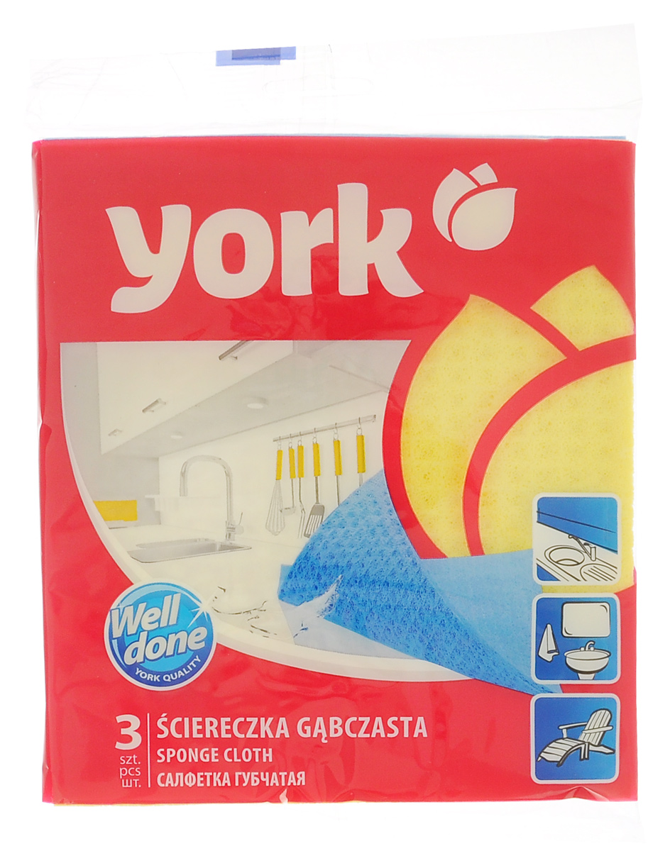 Салфетка губчатая York, 17,5 см х 15,5 см, 3 штDW90Салфетка York, изготовленная из целлюлозы, может поглощать количество пыли и влаги, в 13 раз превышающее ее собственный вес. Многочисленные поры между микроволокнами, благодаря капиллярному эффекту, мгновенно впитывают воду, подобно губке. Благодаря мелким порам микроволокна, любые капельки, остающиеся на чистящей поверхности очень быстро испаряются и остается чистая дорожка без полос и разводов. Размер салфетки: 17,5 см х 15,5 см.
