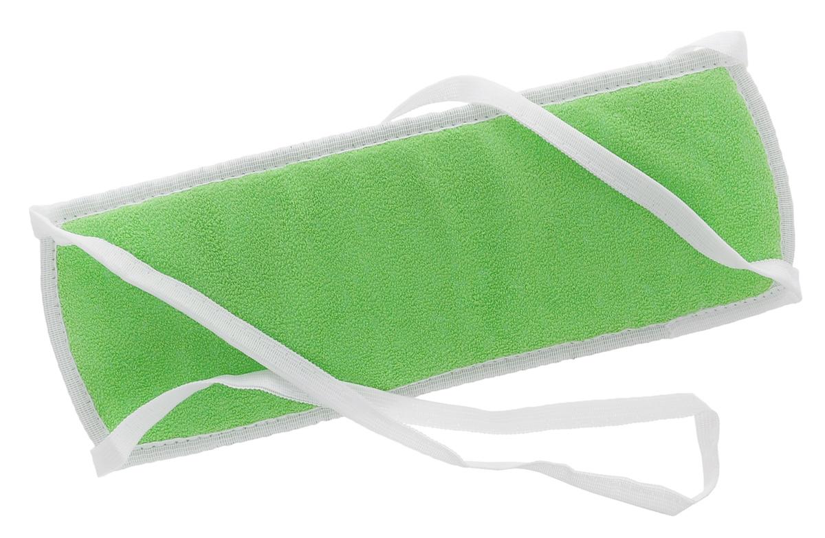 Мочалка массажная Eva, с ручками, цвет: зеленый, белый. М305010777139655Массажная мочалка с ручками Eva станет незаменимым аксессуаром ванной комнаты. Она отлично пенится и быстро сохнет.Мочалка, изготовленная из хлопка и пенополиуретана, тонизирует, массирует и очищает кожу.Не вызывает аллергии.Размер мочалки (без учета ручек): 30 см х 10 см х 1 см. Длина мочалки (с учетом ручек): 88 см.
