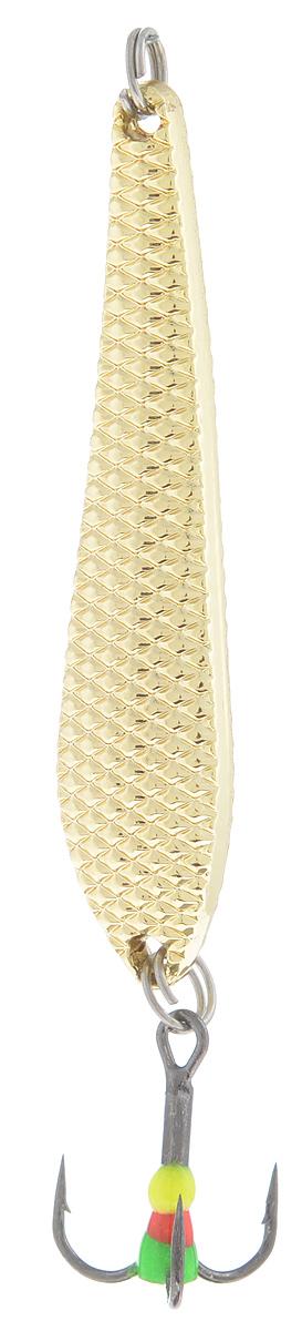 Блесна зимняя SWD, цвет: золотой, 55 мм, 7 гLJME37-206Блесна зимняя SWD - это классическая вертикальная блесна. Выполнена из высококачественного металла. Предназначена для отвесного блеснения рыбы. Блесна оснащена тройником со светонакопительной каплей.