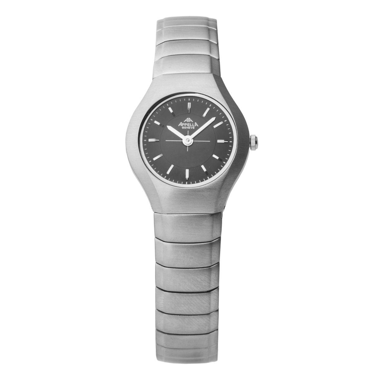 Часы наручные женские Apella, цвет: стальной. A-712-3004BM8434-58AEЭлегантные женские часы Apella выполнены из нержавеющей стали и минерального стекла. Циферблат часов дополнен символикой бренда.Корпус часов оснащен кварцевым механизмом, имеет степень влагозащиты равную 3 atm, а также дополнен устойчивым к царапинам минеральным стеклом. Браслет часов оснащен застежкой-бабочкой, которая позволит с легкостью снимать и надевать изделие.Часы поставляются в фирменной упаковке.Часы Apella подчеркнут изящность женской руки и отменное чувство стиля у их обладательницы.