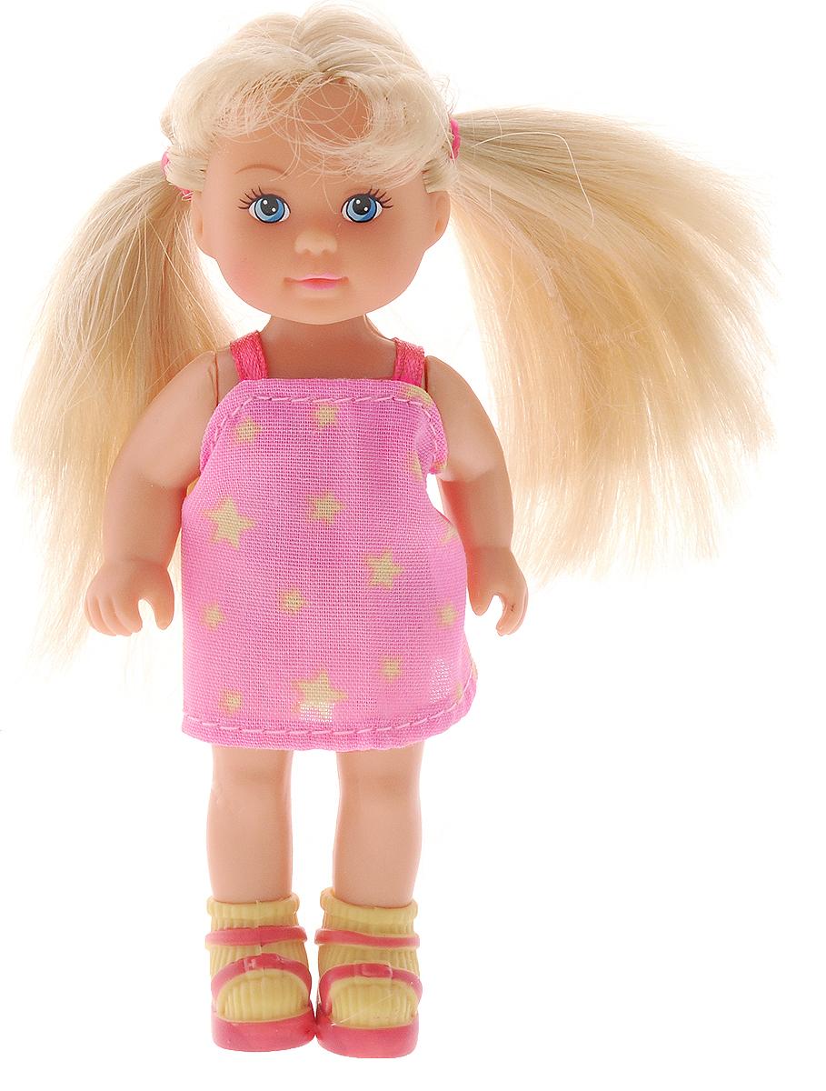 Simba Мини-кукла Еви в чемоданчике цвет платья розовый