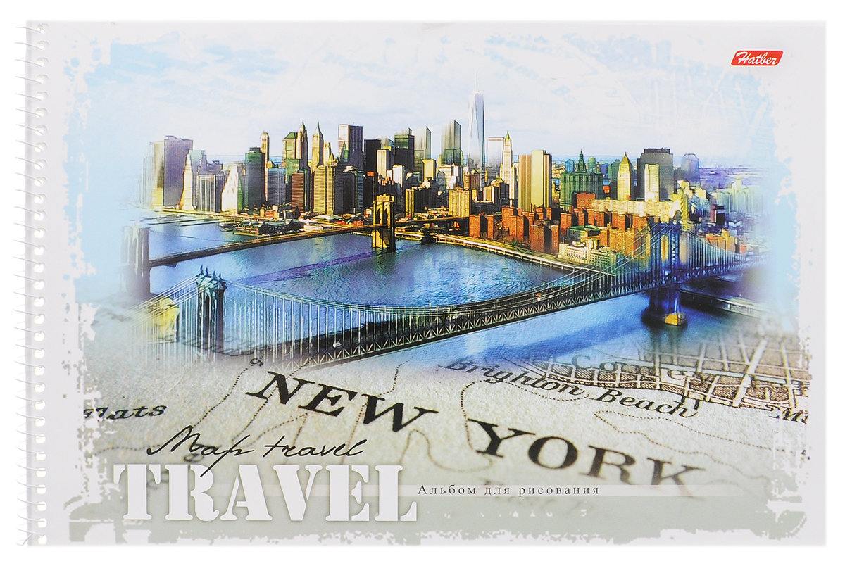 Hatber Альбом для рисования New York 32 листа2010440Альбом для рисования Hatber New York прекрасно подходит для рисования карандашами, фломастерами, акварельными и гуашевыми красками.Обложка выполнена из плотного картона и оформлена изображением города Нью-Йорка. В альбоме 32 листа. Крепление - спираль. На листах тонким пунктиром выполнена перфорация для последующего их отрыва. Альбом для рисования непременно порадует художника и вдохновит его на творчество. Рисование позволяет развивать творческие способности, кроме того, это увлекательный досуг.