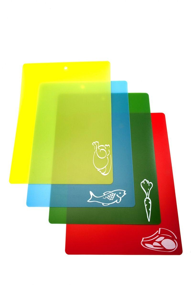 Набор гибких разделочных досокBradex, 28 х 38 см, 4 шт. TK 0174391602Набор гибких разделочных досокBradex – практичный, удобный и современный аксессуар на вашей кухне.Преимущества:1. легко моется и не впитывают влагу2. в комплекте 4 доски с большой рабочей поверхностью3. простая система цветных индикаторов и рисунков для обозначения продукта, который можно резать на данной доске4. легко скручивается для удобного хранения и легкого перемещения нарезанных продуктов в кастрюлю, сковороду, тарелку и т.д.5. незаменим на пикнике и на даче