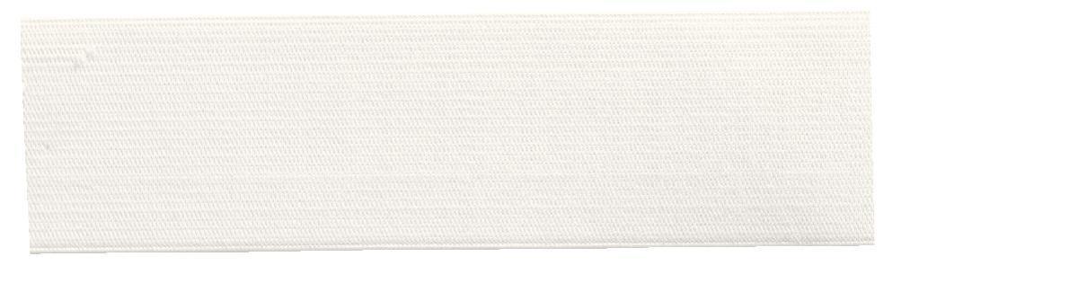 Лента эластичная Prym, мягкая, цвет: белый, ширина 4 см, длина 10 мK100Мягкая эластичная лента Prym выполнена из полиэстера (57%) и эластомера (43%). Тканые эластичные нити изготавливают из основной и уточной нитей, которые располагаются вдоль и поперек ленты. При растяжении такие ленты сохраняют размер ширины. Длина ленты: 10 м.Ширина ленты: 4 см.