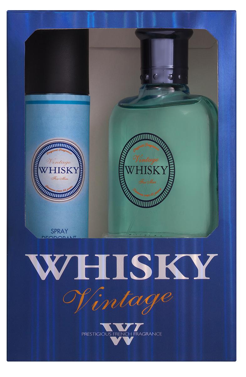 Evaflor Подарочный набор Whisky Vintage мужской: Туалетная вода, 100 мл , дезодорант, 75 млWS 7064Подарочный набор для мужчин : туалетная вода 100мл, парфюмированный дезодорант 75 мл.