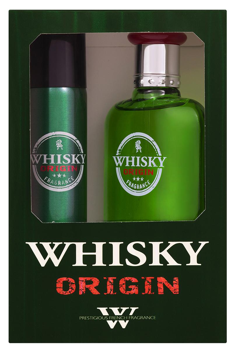 Evaflor Подарочный набор Whisky Original мужской: Туалетная вода, 100 мл , дезодорант, 7 5мл1301210Подарочный набор для мужчин : туалетная вода 100мл, парфюмированный дезодорант 75 мл.