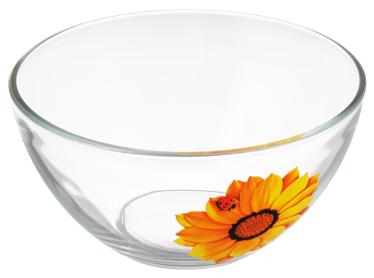 Салатник OSZ Божья коровка на желтом цветке, диаметр 16 см54 009312Салатник OSZ Божья коровка на желтом цветке изготовлен из бесцветного стекла и украшен ярким рисунком. Идеально подходит для сервировки стола.Салатник не только украсит ваш кухонный стол и подчеркнет прекрасный вкус хозяйки, но и станет отличным подарком. Диаметр салатника (по верхнему краю): 16 см. Диаметр основания: 7 см. Высота салатника: 7,5 см.