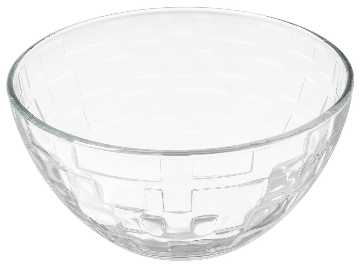 Салатник OSZ Лабиринт, диаметр 19 смH6439Салатник OSZ Лабиринт изготовлен из бесцветного стекла и украшен рельефными гранями. Идеально подходит для сервировки стола.Салатник не только украсит ваш кухонный стол и подчеркнет прекрасный вкус хозяйки, но и станет отличным подарком. Диаметр салатника (по верхнему краю): 19 см. Диаметр основания: 10 см. Высота салатника: 12см.